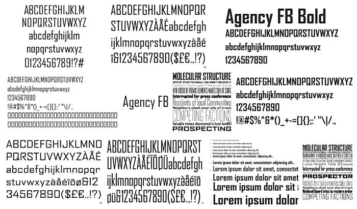 Agency FB Samples