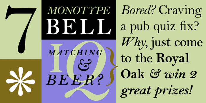 Bell at MyFonts