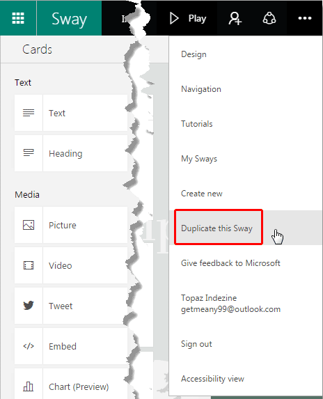 Duplicate this Sway option