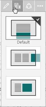 Navigation layout drop-down menu