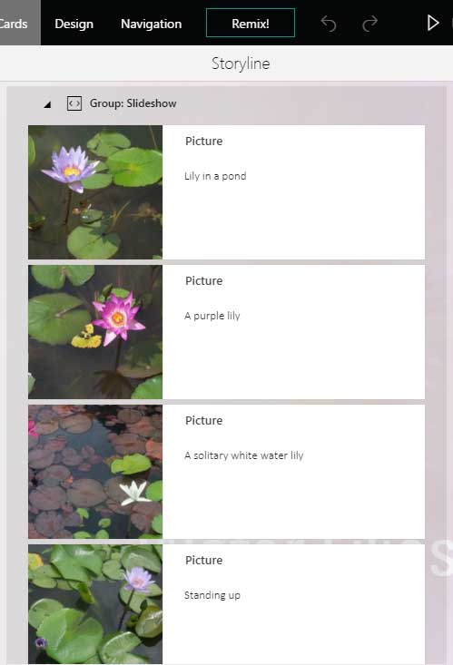 Add captions for your pictures