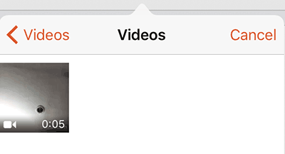 Tap to select a video